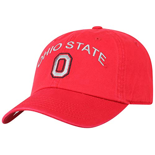 (Top of the World NCAA Ohio State Buckeyes Men's Adjustable Relaxed Fit Team Arch Hat, Red)