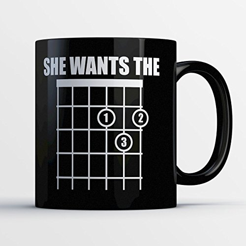 Guitar Mug - She Wants the D