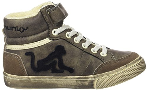 DrunknMunky Jungen Boston Vintage High-Top Marrone (Brown)