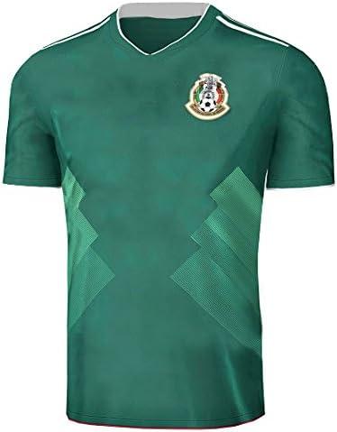 Fangzhou-Sports 2017 2018 México Camiseta de la selección Nacional de fútbol Fútbol Jersey Temporada Sportwear Kit en Verde, Hombre, Verde, Small: Amazon.es: Deportes y aire libre