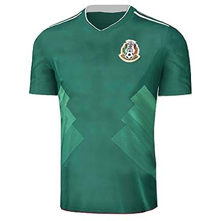 Fangzhou-Sports 2017 2018 México Camiseta de la selección Nacional de fútbol  Fútbol Jersey Temporada Sportwear Kit en Verde bdf218b56287a