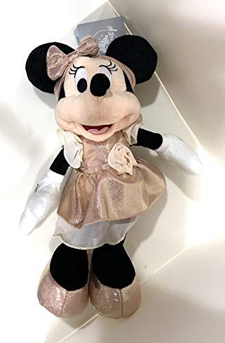 Disney Parks Minnie Mouse in Rose Gold Color Dress 11 inch Plush Doll