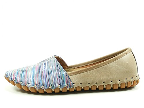 Blau 31203 Grau Blau Grau h h Woman Flat Blau 082 29 Multi coloured Gemini Slipper IqwpZWxn4