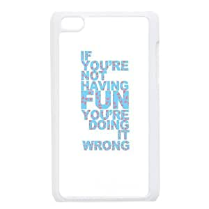 iPod Touch 4 Case White quotes fun doing it wrong Rvsnp