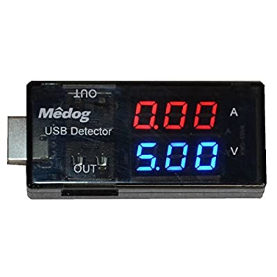 Dual USB 2.0 Digital Multimeter for Charging and Data Sync, LED Display Both Current and Voltage Monitor Mobile Solar Panel Alignment Tester Improve Charging Efficiency