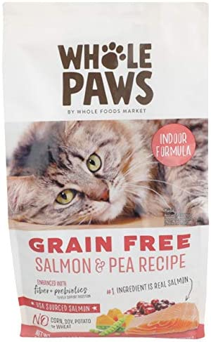 Whole Paws, Cat Food Dry Salmon Grain Free, 56 Ounce