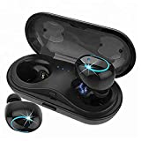 KNGUVTH Wireless Earbuds, Bluetooth Headphones V4.2 Mic Earpieces True Wireless Stereo Hands Free Call In Ear Sweatproof Sport Earphones Headset with Charging Box
