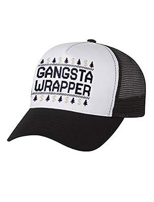 Tstars - Christmas Gangsta Wrapper Funny Holiday Trucker Hat Mesh Cap