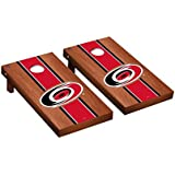 Victory Tailgate Carolina Hurricanes NHL Regulation Cornhole Game Set Rosewood Stripe Version