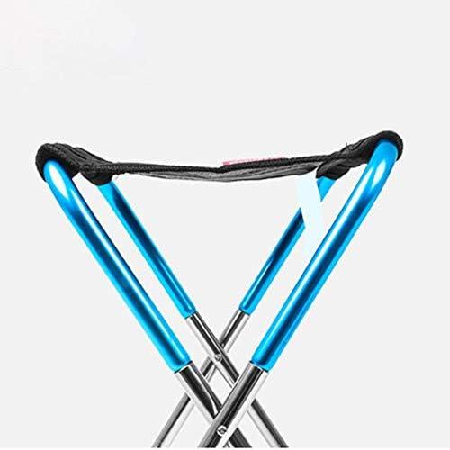 Bigherdez Outdoor Folding Seat Chair Folding Mini Stool Portable Camping Fishing Train Bench Foldable Lined Up Stool Blue