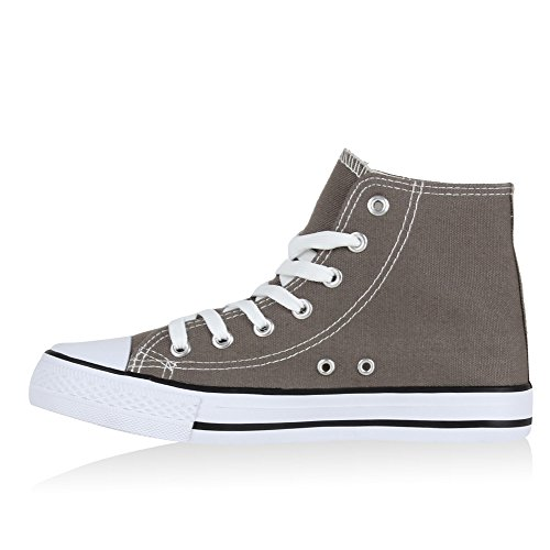 Stiefelparadies - Zapatillas altas Mujer Gris - gris