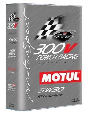 """Motul 300V 5W30 """"POWER RACING"""" Oil 2L (2.1 qt.) -  Legutko, SL021LLDPWT"""