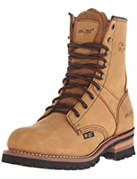 "Ad Tec 9"" Super Logger Soft Toe Boots for Men, Leather Goodyear Welt Construction & Utility Footwear, Durable and Long Lasting Work Shoes, Lug Sole"