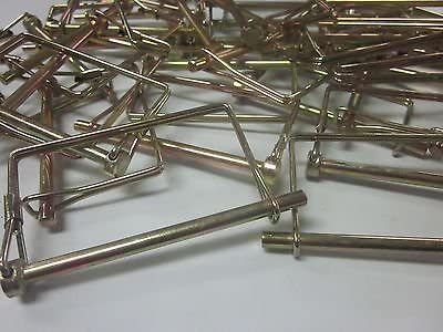 ~ 50 ~ SQUARE 1//4 X 4 CANOPY PTO PINS CAMPER AWNING TRAILER HITCH HOOK PIN