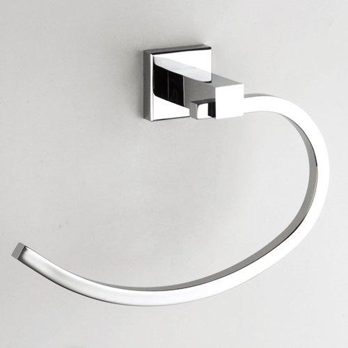Lightinthebox Novelty Design Contemporary Solid Brass Chrome Finish Towel Ring L21cm X W14.5cm X H7cm Lavatory Home Decor Bath Shower Improvement Towel Racks