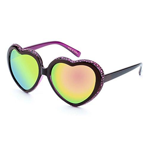 MLC Eyewear ® Mimi Heart-Shaped Fashion Sunglasses in - Rhinestone Heart Sunglasses