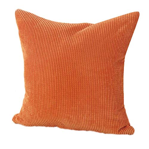 wcase Vintage Cotton Corduroy Style Pattern Cushion Case Home Decorative Cheap Pillow Case 18x18 inch ()