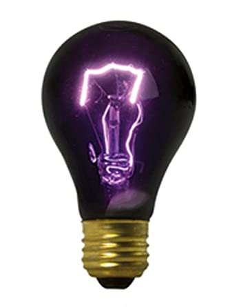 black light incandescent uv light bulbs 120v75w halloween lot of 6 - Halloween Light Bulbs