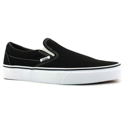 Vans Unisex Klassiska Slip-on Sneakers Svart