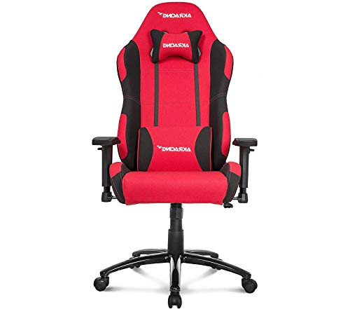 (Office Home Furniture Premium Gaming Chair with High/Wide Backrest, Recliner, Swivel, Tilt, Rocker & Seat Height Adjustment Mechanisms, 5/10 Warranty - Red/Black)