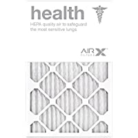 AIRx Filters Health 16x25x2 Air Filter MERV 13 AC Furnace Pleated Air Filter Replacement Box of 12, Made in the USA