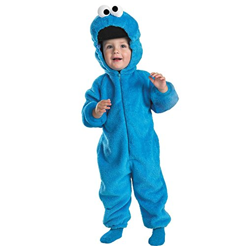 Cookie Monster Deluxe Two-Sided Plush Jumpsuit Costume - Medium (Cookie Monster Halloween Costume For Girls)