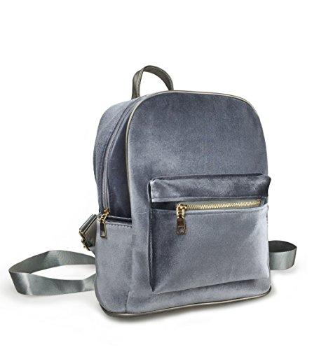 Hoxis Shining Velvet Fabric Backpack Bling Glitter Shoulder Bags - Small Size - more-bags