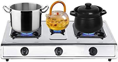 Encimera de Gas 3 Fuegos 71 x 36 x 8,5cm Cocina de Gas con 4 Patas de Goma Antideslizantes Hornillo Gas Anticorrosión: Amazon.es: Hogar