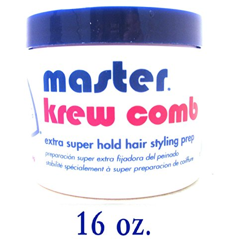 Krew Comb Extra Super Hold Hair Styling Prep 16 oz -4 pie...