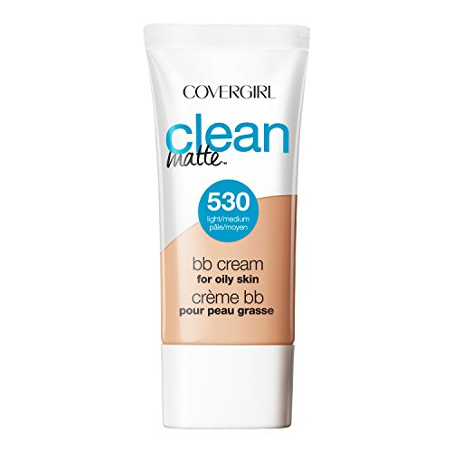 COVERGIRL Clean Matte BB Cream Light/Medium 530 For Oily Skin, 1 oz (Bb Cream For Oily Skin)