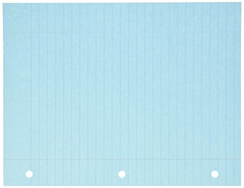 - School Smart 3-Hole Punched Filler Paper, 8-1/2 x 11 Inches, Blue, 100 Sheets