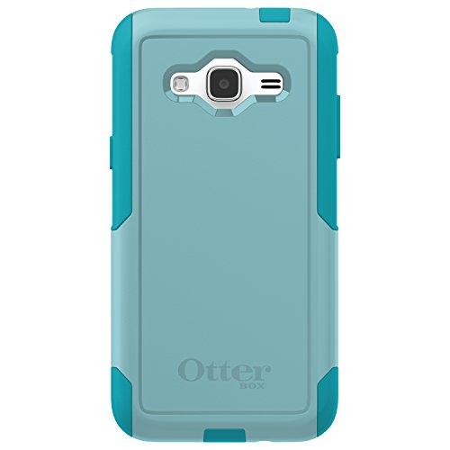 OtterBox Commuter Series Case for Samsung Galaxy J3 2016 Only (Not for 2017 Model)/J3 V - Retail Packaging - Aqua Sky (Aqua Blue/Light Teal)