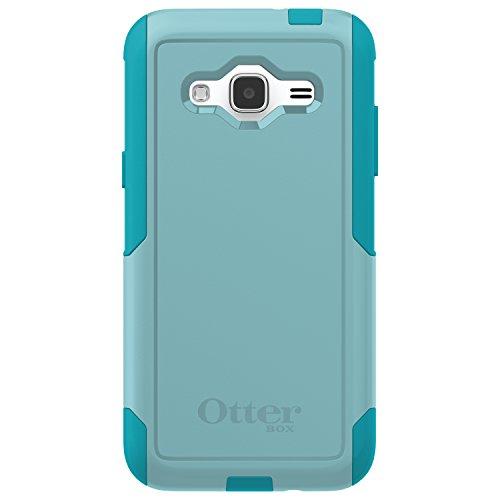 OtterBox COMMUTER SERIES Case for Samsung Galaxy J3/J3 V (Compatibility below) - Retail Packaging - AQUA SKY (AQUA BLUE/LIGHT TEAL) ()