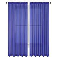 """2 piezas Hermosa ventana escarpada Royal Blue Elegance Cortinas /cortinas /paneles /tratamiento 60 """"w x 84"""" l"""