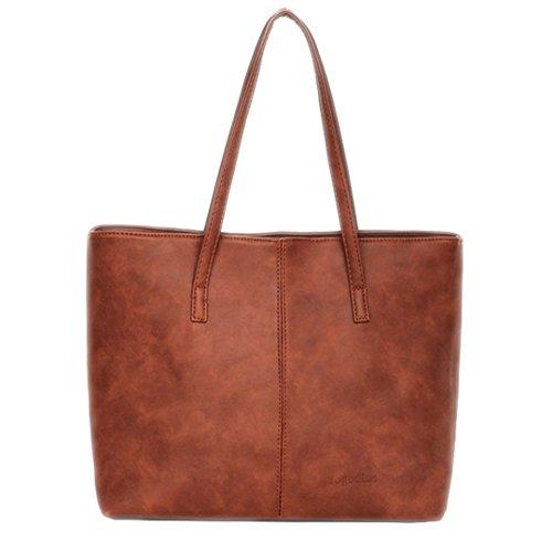 femmes sac à Les bandoulière Design capacité Sacs sacs cuir à Sacs Light Noir main main sac grande courte en Gris de Brown à wEZnFqZdC