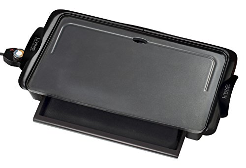 082677204004 - Nostalgia NGD200 Living Collection Extra-Large Non-stick Griddle with Cool Touch Handles and Warming Drawer carousel main 1