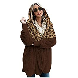 IFOUNDYOU Womens Coat Teddy Bear Jacket Fleece Lapel Coat Fluffy Outwear Womens Clothing Casual Loose Notch Collar Warm Up Ladies Cardigan Sale Autumn Spring Hooded Jackets Coats