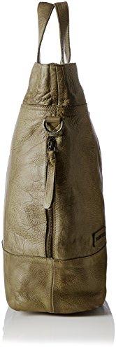 Taschendieb Td0117bg - Borse a secchiello Donna, Grün (Bottle Green), 14x39x50 cm (B x H T)