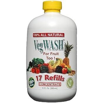 VegWASH Fruit & Vegetable Wash Concentrate - Only $0.07 / Oz. + Its Organic!