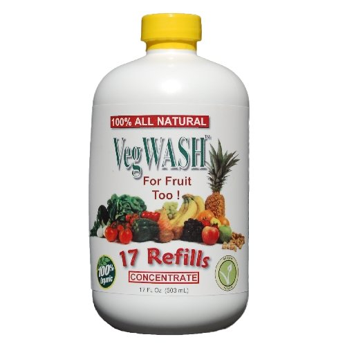 Organic Fruit Spray - VegWASH Fruit & Vegetable Wash Concentrate - Only $0.07 / Oz. + Its Organic!