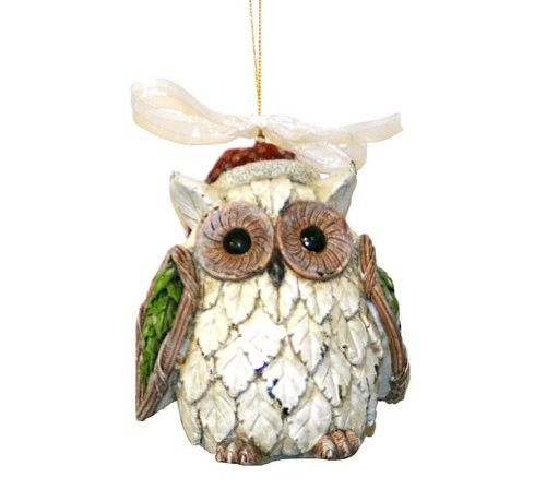 8 inches · Santa Owl Christmas Ornaments - Owl Christmas Tree Ornaments Whimsical Fun Owls For Your Christmas