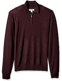 Men's Merino Wool Quarter Zip Sweater