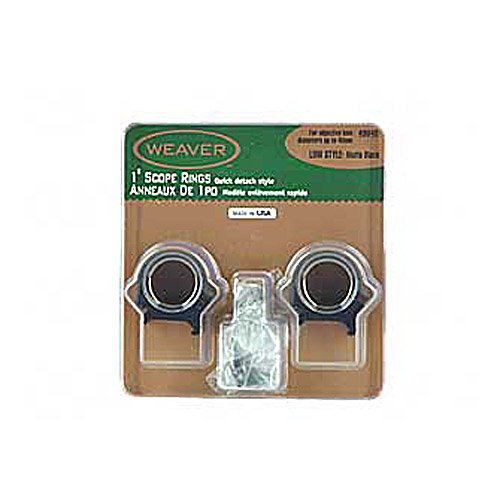 Inch Low Top Mount Rings (Matte Black) (Rings Low Matte Scope Mounts)