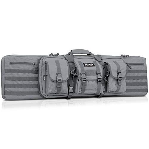 Savior Equipment American Classic Tactical Double Long Rifle Pistol Gun Bag Firearm Transportation Case w/Backpack - 51 Inch Ash ()