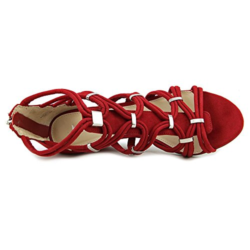 III Bar Sandals Womens Platform Toe Open Red Kaylan Fabric Casual d8axn78r