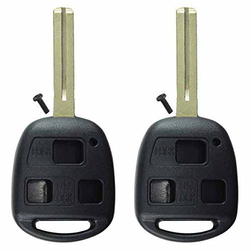 2-keylessoption-replacement-key-case-shell-keyless-entry-remote-fob-uncut-blade-fix-master-black