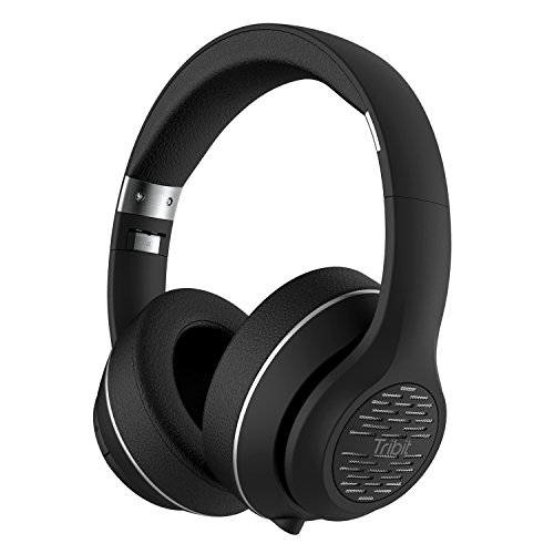 (Tribit XFree Tune Bluetooth Headphones Over Ear - Wireless Headphones 40 Hrs Playtime, Hi-Fi Stereo Sound with Rich Bass, Built-in Mic, Soft Earmuffs - Foldable Headset with Carry Case, Black)