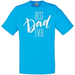 T shirts for men Best Dad Ever Happy Father's Day or Birthday husband gift ideas (XX-Large Blue Multi Color)