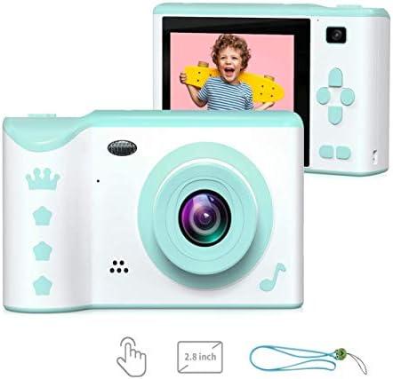 キッズデジタルカメラ、3-12歳の男の子と女の子のための16ギガバイトのSDカードストレージキッズギフトと2.8インチフロントとリアのデュアルカメラ8.0MP、子供のための1080P HDカメラ、USB充電式