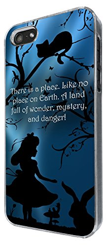 628 - Alice in Wonderland Quote There is a place Like No Place on on earth Full Of Wonder Design iphone 4 4S Coque Fashion Trend Case Coque Protection Cover plastique et métal